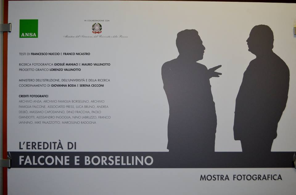 Inaugurazione mostra Ansa su Falcone e Borsellino, Milano 15 novembre 2016